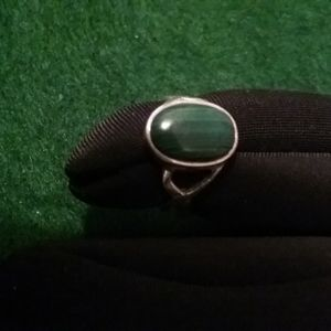 Jewelry - Silver and Malachite ring